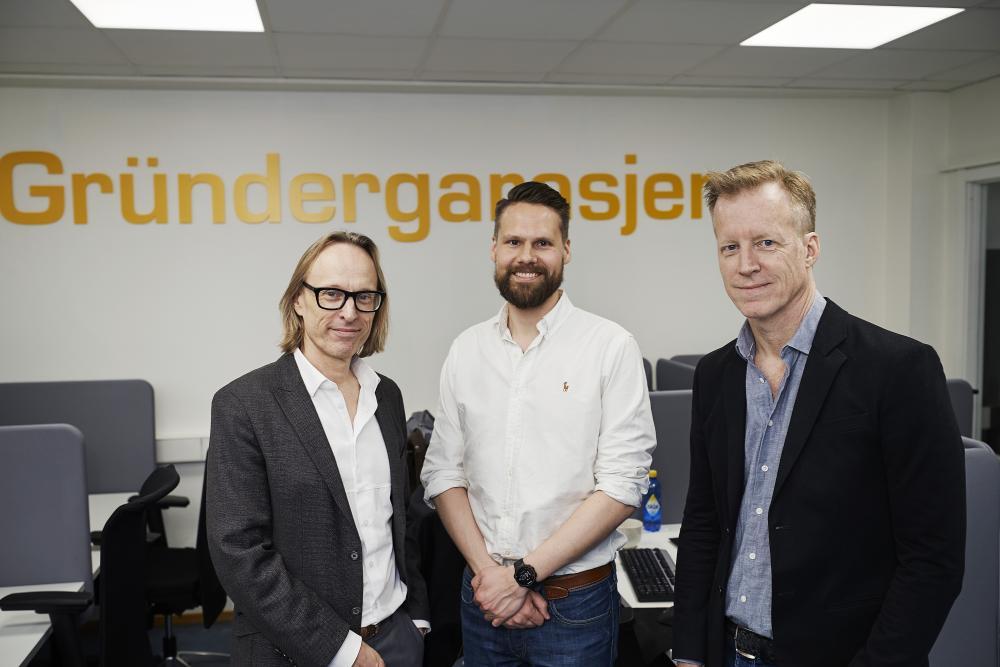 Prorector Morten Irgens, Director of the Simula Garage Christian Bjerke, and Rector Curt Rice of OsloMet. (Photo: Simula/Bård Gudim)