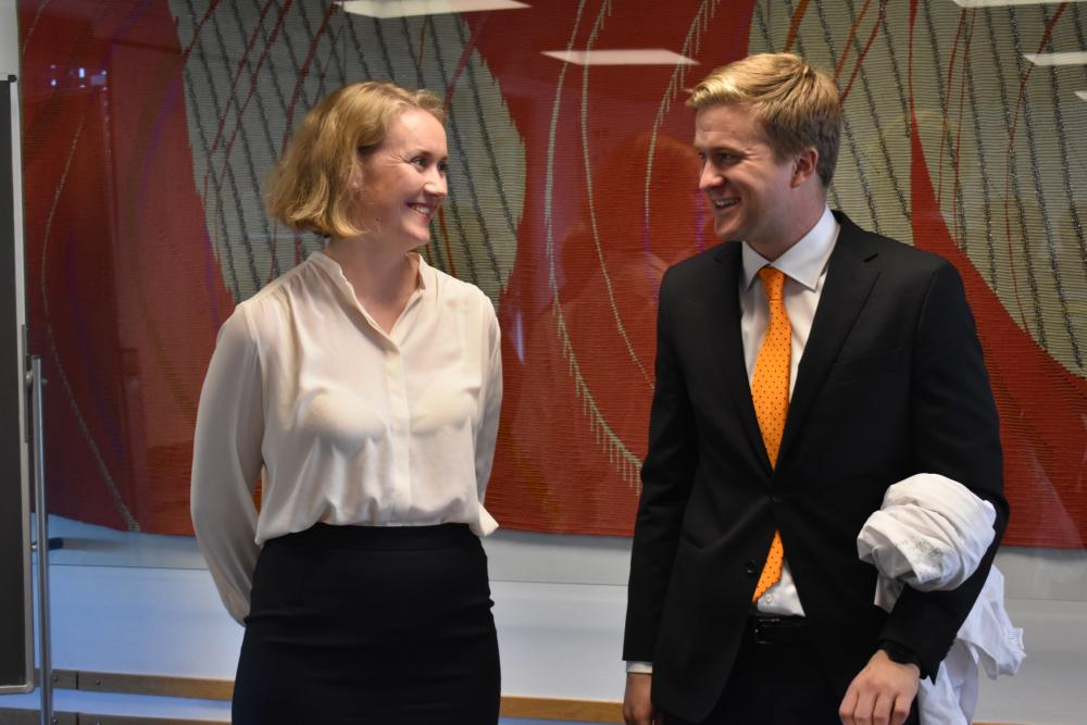 Vegard Vinje with his supervisor, Chief Research Scientist Marie Rognes