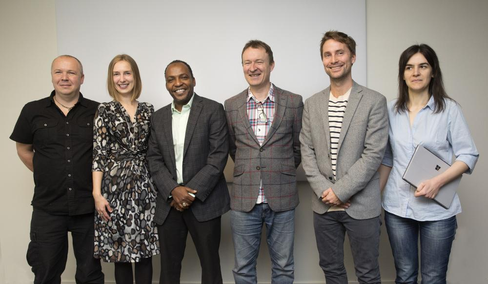 The representatives from the four projects getting funding from the Research Council together with Iselin Nybø (Photo: Sverre Christian Jarild)