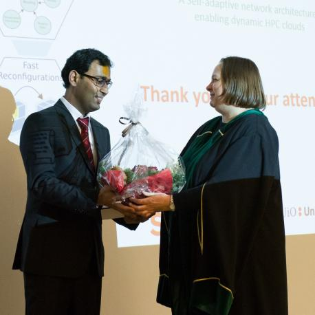 Feroz Zahid successfully defended his thesis (Photo: Simula/Karoline Hagane)