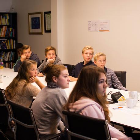 Middle schoolers from Bjørnegård (Simula/Elin Backe Christophersen)