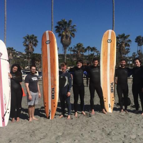 SUURPh students enjoying the Californian beach