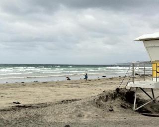 A California beach
