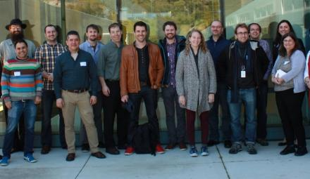 A tiny subset of the Jupyter contributors and users that made Jupyter possible — Biannual development meeting, 2016, LBNL. (Photo: blog.jupyter.org)