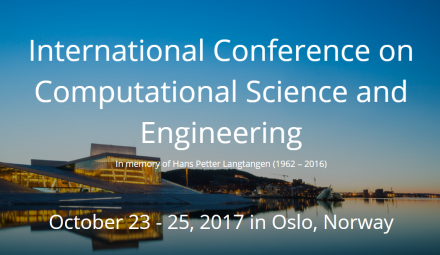 International Conference on Computational Science and Engineering 2017 (Illustration: cseconf2017.simula.no)