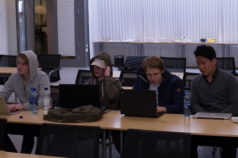 Secondary school students from Sandvika high school
