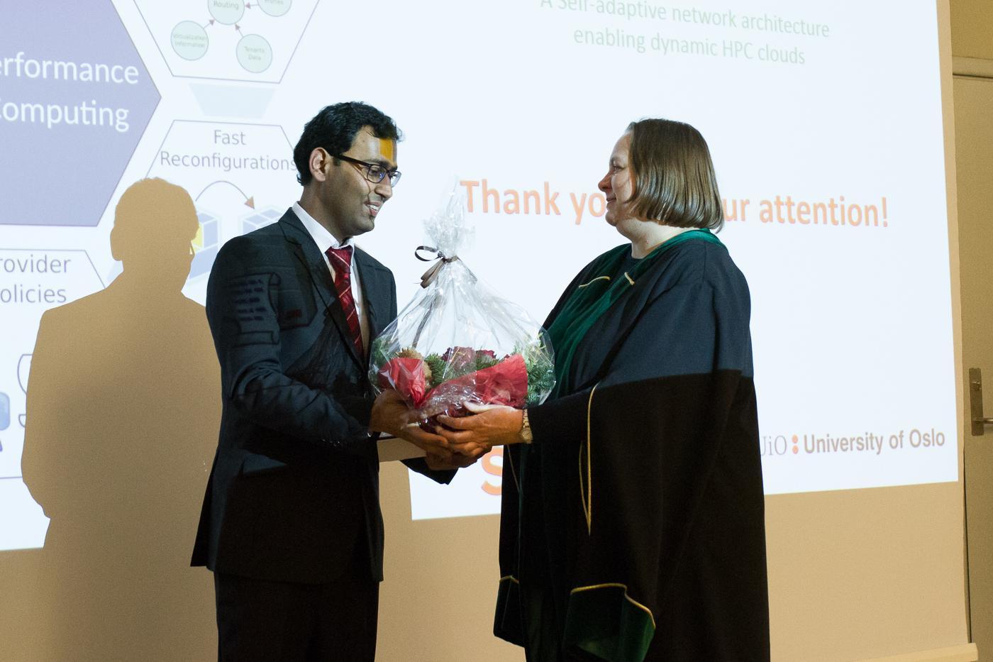 Feroz Zahid successfully defended his thesis (Photo: Simula/Karoline Hagane)