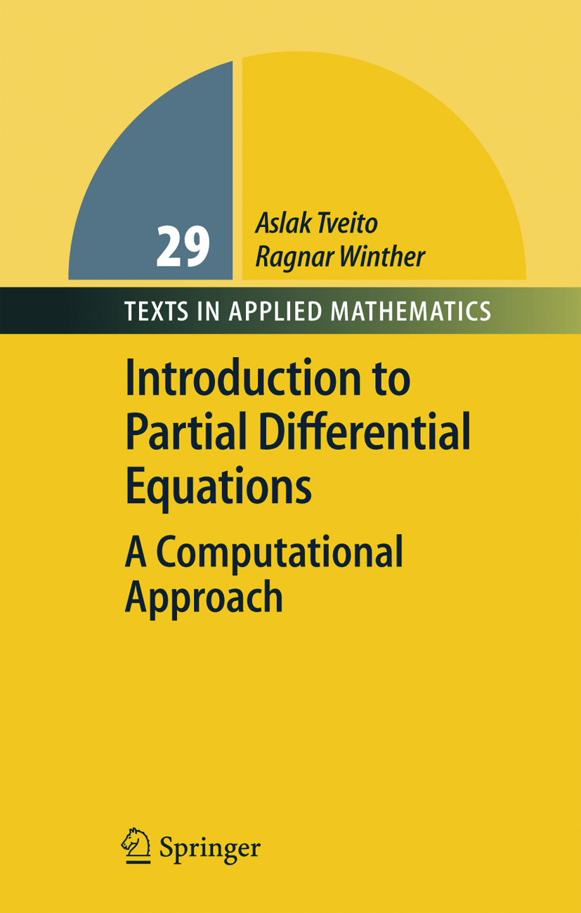 Book cover: 	Introduction to Partial Differential Equations; a Computational Approach