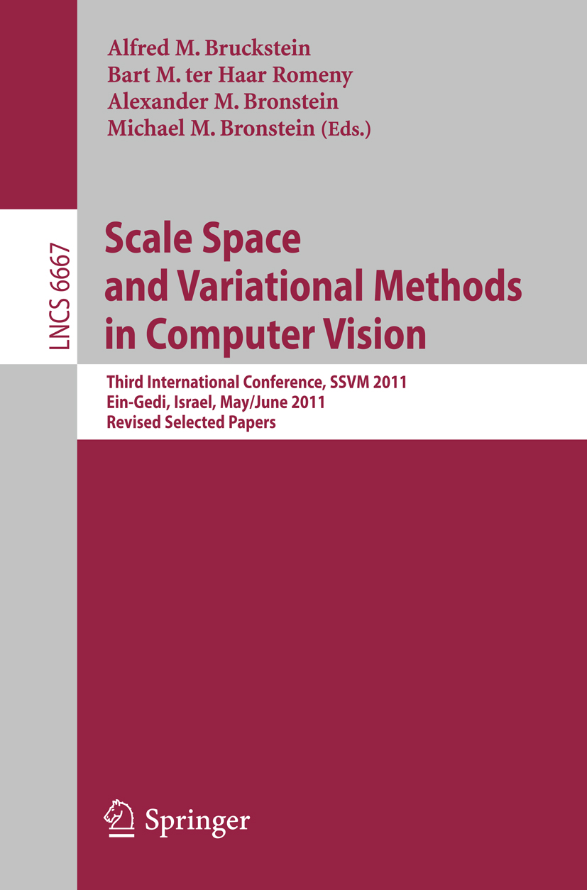 Book cover: Scale Space and Variational Methods in Computer Vision