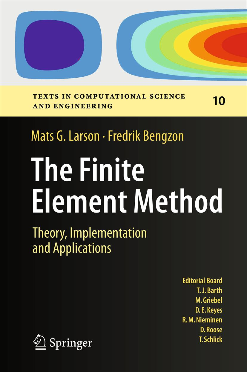 Book cover: The Finite Element Method: Theory, Implementation, and Applications