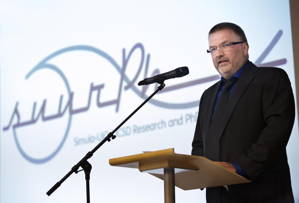 Managing Director of Simula Aslak Tveito at the SUURPh opening