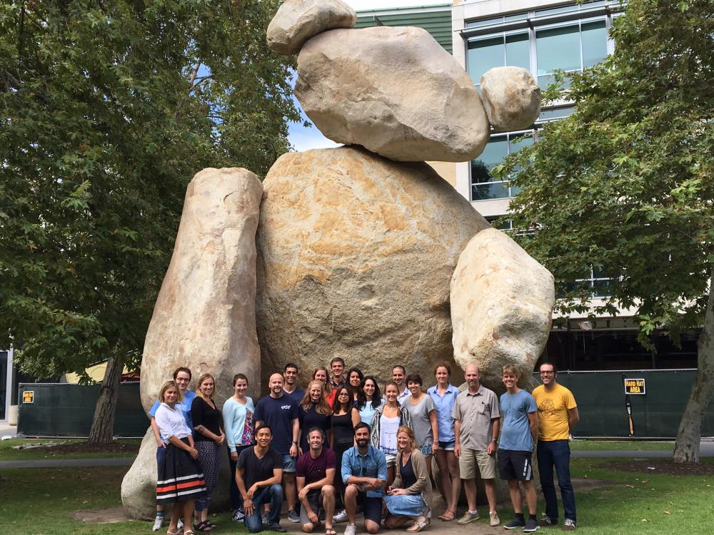 A San Diego landmark and the Summer School students. Photo: Andy Edwards