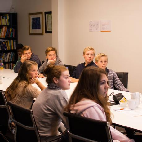 Middle schoolers from Bjørnegård (Simula/Elin Backe Christophersen)