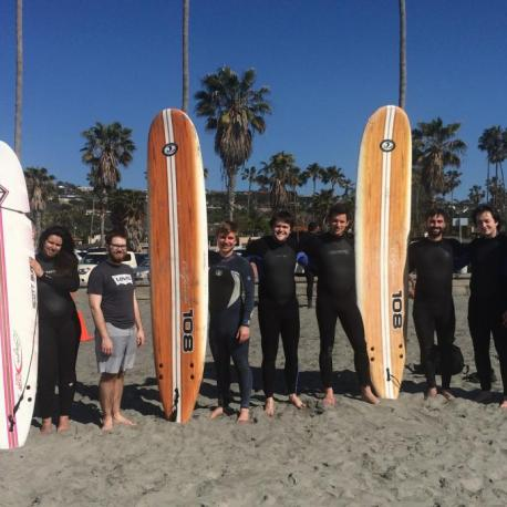 SUURPh students enjoying the Californian beach