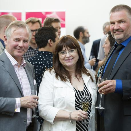 From the right: Ole Petter Ottersen, principal of UiO, Kim Barrett, Dean of the Graduate Division at UCSD, and Aslak Tveito, Managing Director of Simula.